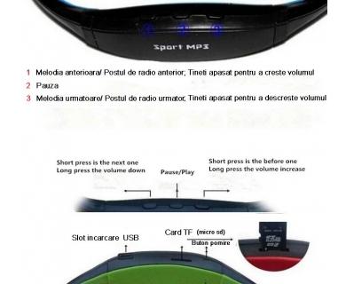 Casti sport cu microSD si FM