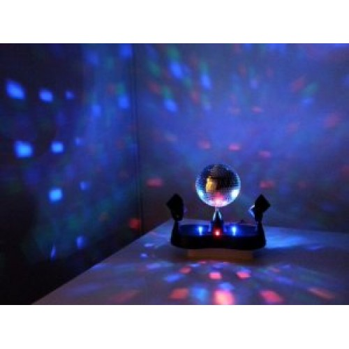 Glob disco cu spoturi LED
