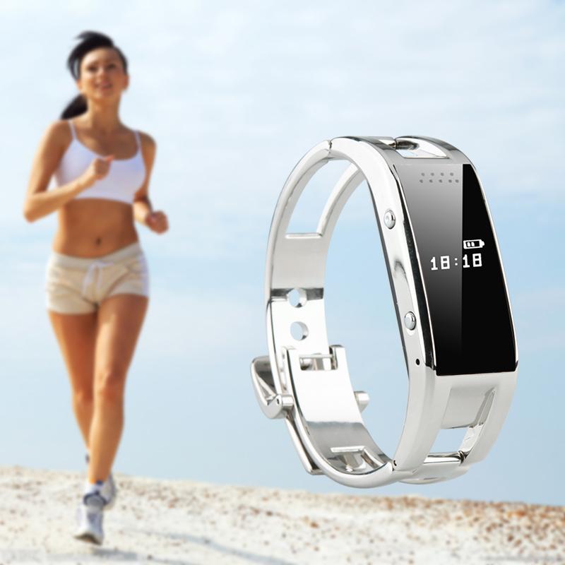 smartwatch cu pedometru metalic