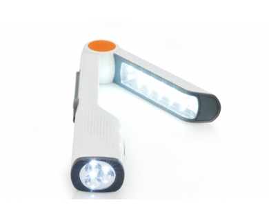 Lampa solara multifunctionala cu LED, Radio, lanterna