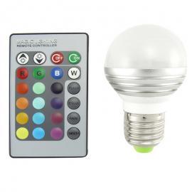 Bec LED RGB cu telecomanda