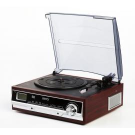Pick Up Gramofon cu radio FM si ceas alarma