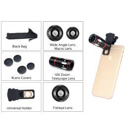 Kit 4in1 lentile universale pentru Iphone si Samsung