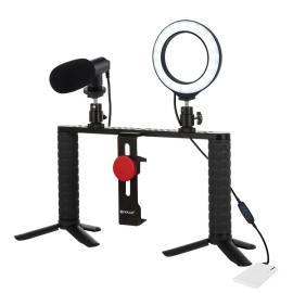 Kit profesional pentru vlogging cu LED circular