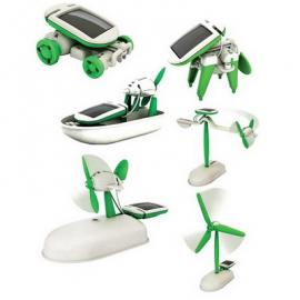 Kit robot educational solar, 6 in 1, de montat