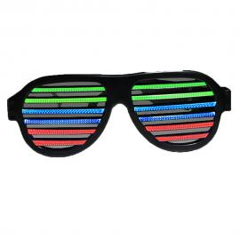 Ochelari DISCO cu leduri multicolore